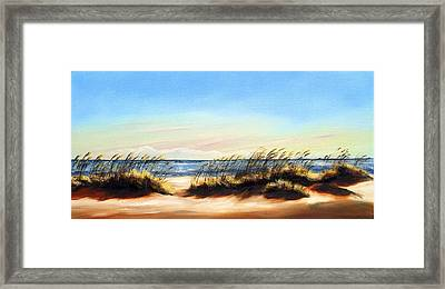 Sea Oats Framed Print by Michele Snell