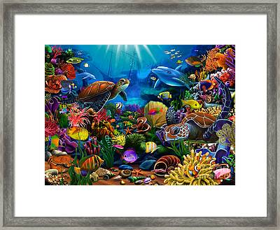 Sea Of Beauty Framed Print by Gerald Newton