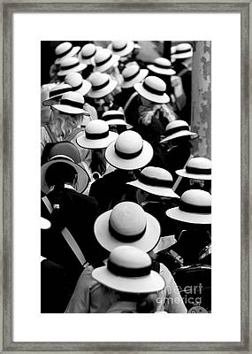 Sea Of Hats Framed Print by Avalon Fine Art Photography