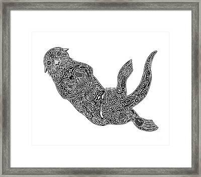 Sea Otter Framed Print by Carol Lynne