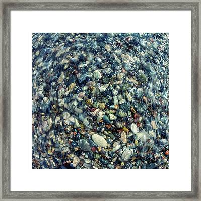Sea Pebbles Framed Print by Stelios Kleanthous