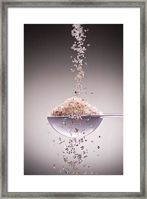 Sea Salt Framed Print by Steve Gadomski