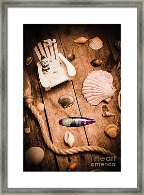 Sea Shell Decking Framed Print by Jorgo Photography - Wall Art Gallery