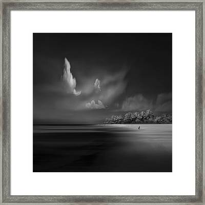 Sea Shore View Framed Print by Antonyus Bunjamin (abe)