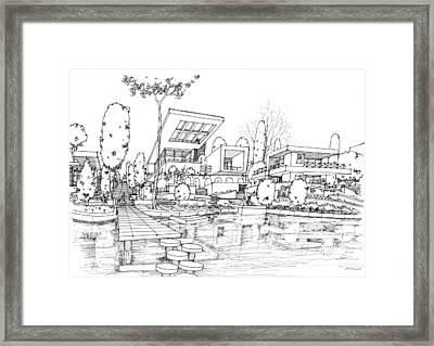 Sea Side Villa Framed Print by Soran Shangapour