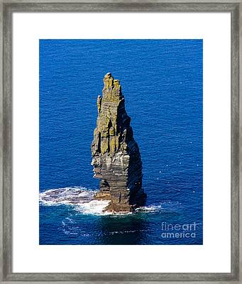 Branaunmore Sea Stack Framed Print by Amy Sorvillo