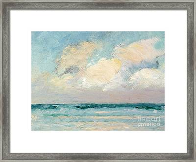 Sea Study - Morning Framed Print by AS Stokes