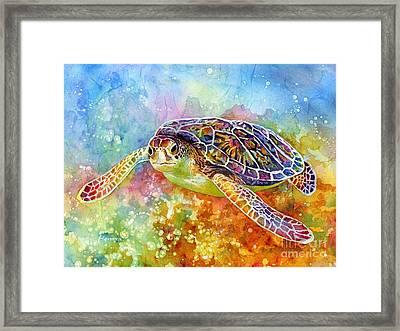 Sea Turtle 3 Framed Print by Hailey E Herrera