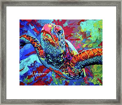 Sea Turtle Framed Print by Maria Arango
