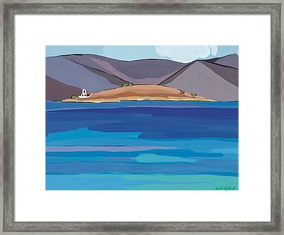 Sea View And Chapel Framed Print by Sarah Gillard