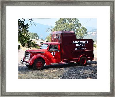 Seabiscuit's Truck Framed Print by Josephine Buschman