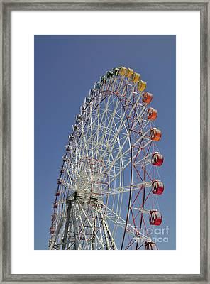 Seacle Rinku Pleasure Town Ferris Wheel Framed Print by Andy Smy