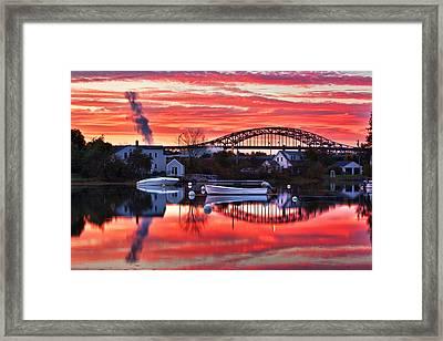 Seacoast Sundown Framed Print by Eric Gendron