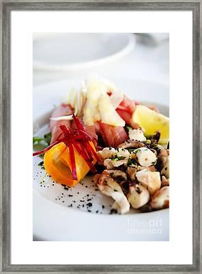 Seafood Framed Print by Jelena Jovanovic