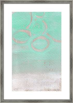 Seaglass Framed Print by Linda Woods