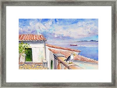 Seagull In Cap De Formentor Framed Print by Miki De Goodaboom