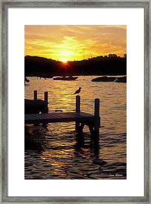 Keep Calm - Lake Geneva Wisconsin Framed Print by Bruce Thompson