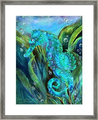 Seahorse 2 - Spirit Of Contentment Framed Print by Carol Cavalaris