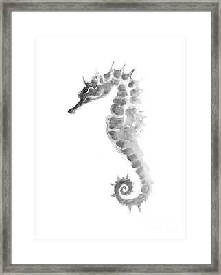 Seahorse Giclee Print Framed Print by Joanna Szmerdt