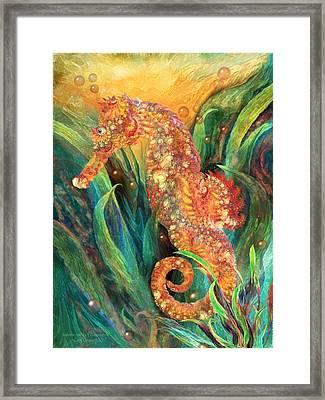 Seahorse - Spirit Of Contentment Framed Print by Carol Cavalaris