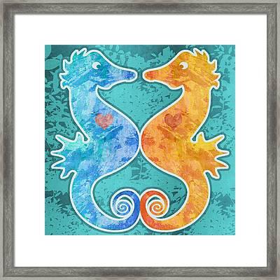 Seahorses Framed Print by Mary Ogle