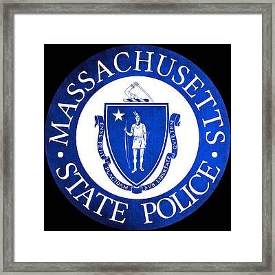 Seal Of The Massachusetts State Police Framed Print by Tom Lemmons