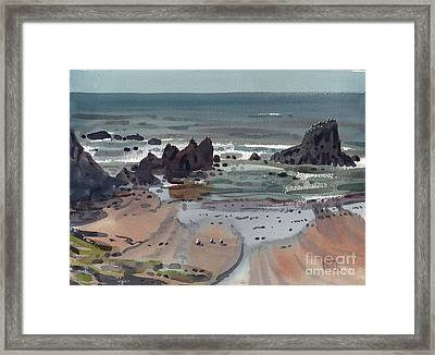 Seal Rock Oregon Framed Print by Donald Maier