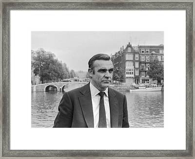 Sean Connery As James Bond Framed Print by Georgia Fowler