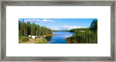 Seaplane On Talkeetna Lake, Alaska Framed Print by Panoramic Images