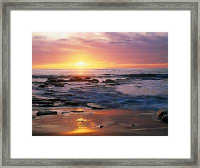 Seascape Ca Usa Framed Print by Panoramic Images
