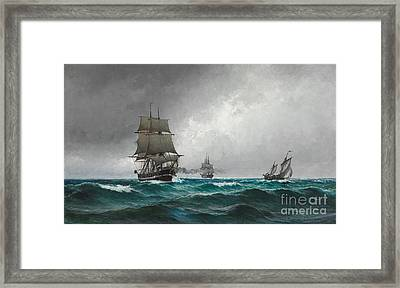 Seascape Framed Print by Celestial Images