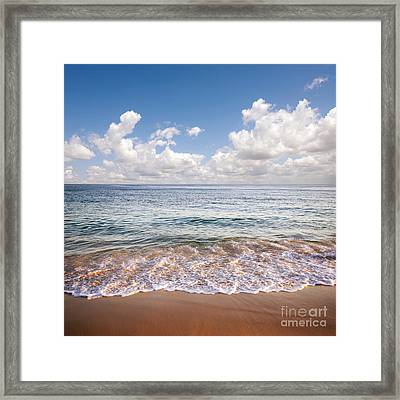 Seascape Framed Print by Carlos Caetano