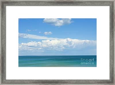 Seascape With Clouds Framed Print by Irina Afonskaya