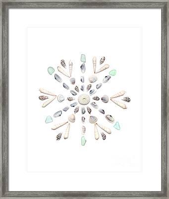Seashell Snowflake 2 Framed Print by Jennifer Booher