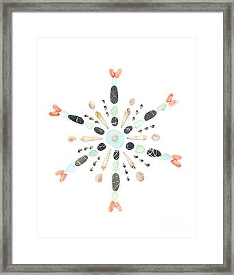 Seashell Snowflake 4 Framed Print by Jennifer Booher