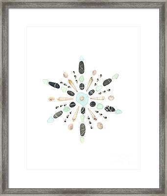 Seashell Snowflake 5 Framed Print by Jennifer Booher