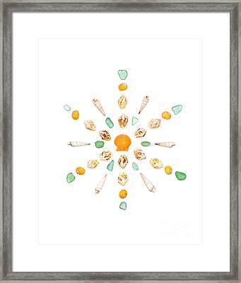 Seashell Snowflake 7 Framed Print by Jennifer Booher