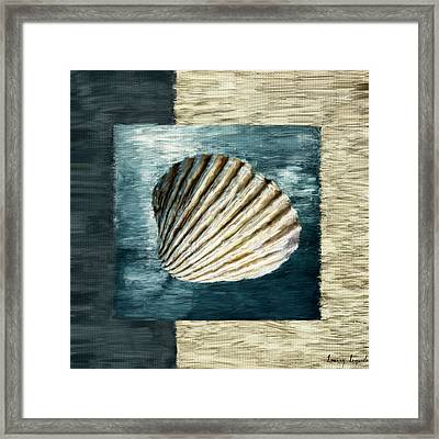 Seashell Souvenir Framed Print by Lourry Legarde