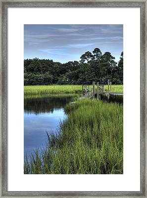 Seaside Creek Fort Lamar Battle Of Secessionville Framed Print by Dustin K Ryan
