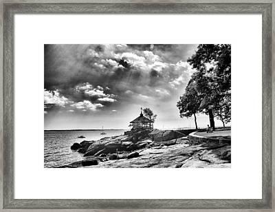 Seaside Gazebo Framed Print by Jessica Jenney