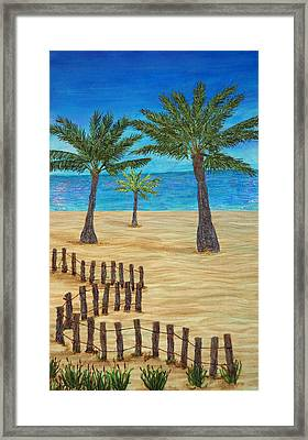 Seaside Oasis Framed Print by Ana Sumner