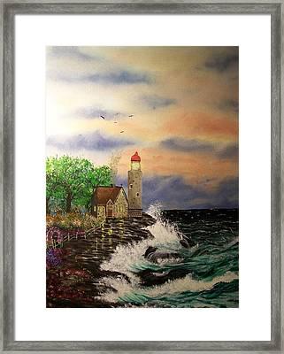 Seaside Vigil Framed Print by Laurie Kidd