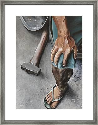 Seasoned By Life Framed Print by Wendy Ballentyne
