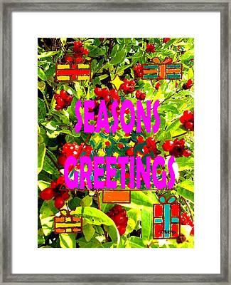 Seasons Greetings 10 Framed Print by Patrick J Murphy