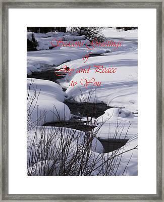 Seasons Of Joy And Peace Framed Print by Daniel Hebard