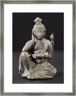 Seated Buddha Framed Print by Japanese School