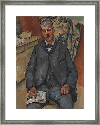 Seated Man  Framed Print by Paul Cezanne