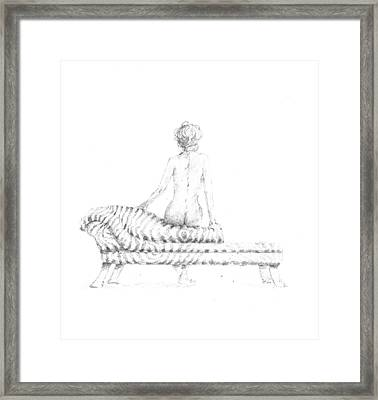 Seated Nude Framed Print by Lincoln Seligman