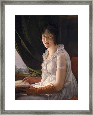 Seated Portrait Of Marie Philippe Claude Walbonne Framed Print by Francois Pascal Simon Gerard