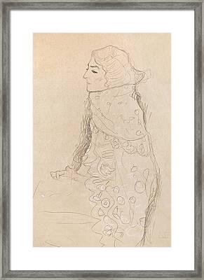 Seated Woman Framed Print by Gustav Klimt